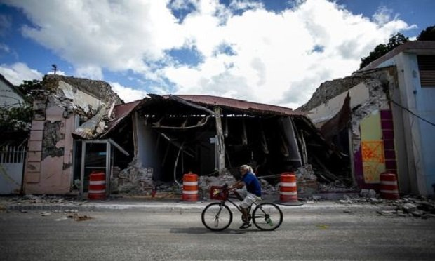 On January 7, 2020 in the town of Guanica, Puerto Rico at 4:24 in the morning, an earthquake of magnitude 6.6 occurred causing damage to countless residences and public buildings, including schools. Since December 28, 2019, southern Puerto Rico has registered more than 50 earthworks. Since then, in the villages of Guanica, Guayanilla, Yauco, Peuelas, they have been affected leaving thousands of Puerto Ricans homeless and sleeping in makeshift shelters. Today January 11, 2020. Xavier Garcia /Bloomberg