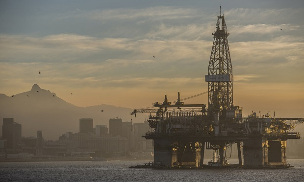 An offshore oil platform stands in the Guanabara Bay near Niteroi, Rio de Janeiro state, Brazil. (Dado Galdieri/Bloomberg)
