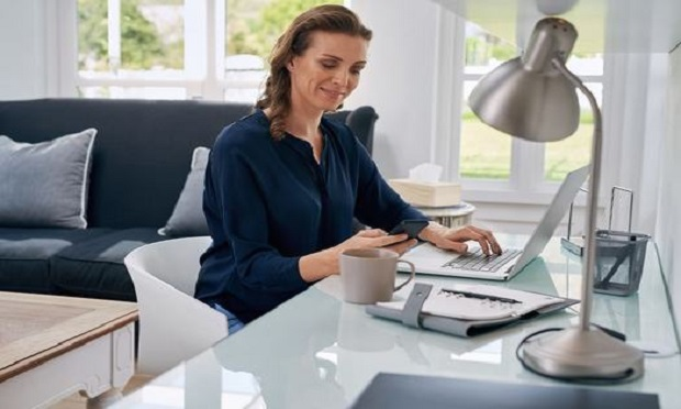 While working from home, agents and brokers can check with clients to help eliminate their life insurance coverage gaps. (Photo: Daxiao Productions/Shutterstock)