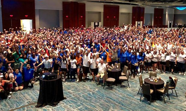 Group of GKTW volunteers in hotel ballroom