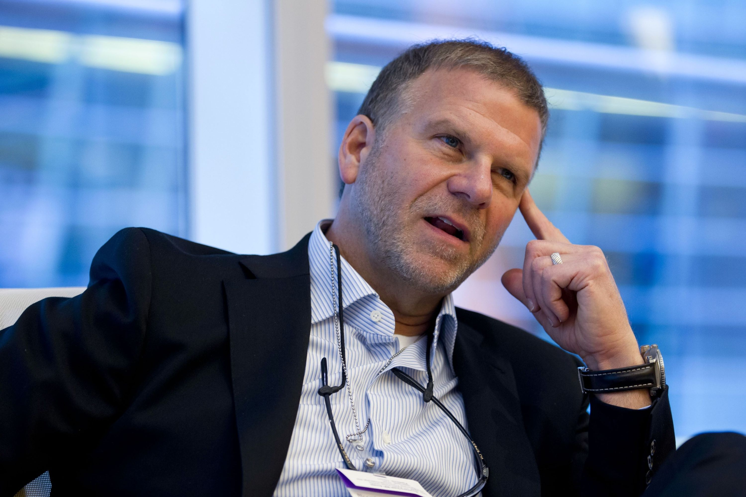 Tilman Fertitta, chief executive officer of Landry's Inc., speaks during an interview in New York, U.S. (Photo: Bloomberg)