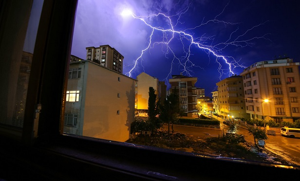 Electrically powered equipment is prone to lightning damage if a surge enters the electrical system. Lightning can travel from the utility power line to the electrical panel and through the home's wiring to the outlets. Anything plugged into or connected to these components could sustain damage. (Credit- Gurzoglu/Shutterstock)