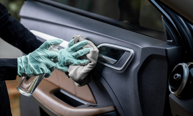 During the pandemic, many insurers are paying repair shops to disinfect and clean a vehicle for contamination before it is returned to the customer. (Photo: Shutterstock)