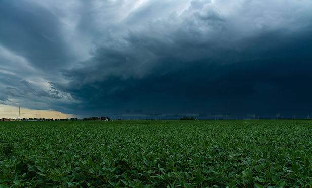 Incoming Derecho moments before it hits a small town in the Midwest. August 10th, 2020. (Photo: Shutterstock)