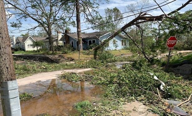 Damage from Hurricane Laura.