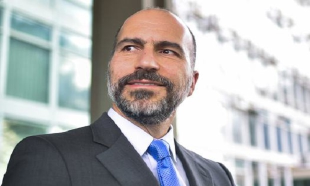 Uber CEO Dara Khosrowshahi' suggests that companies like his be required to pay for benefit funds for gig workers to use as they choose. (Photo: Mateus Bonomi/AP)