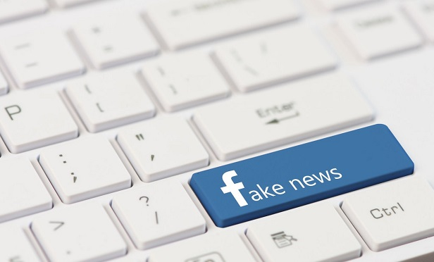 Facebook fake news logo.