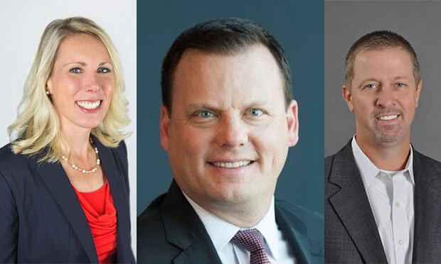 Sedgwick has promoted Andrea Buhl, John Stanzi and Scott Rogers (pictured from left to right). (Photo: Sedgwick)