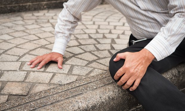 More than 50% of questionable slip and fall claims, which rose 2% between 2017 and 2019, were filed on commercial general liability policies. (Credit: 9nong/Shutterstock.com)