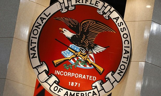 Signage for the National Rifle Association (Photo: Aaron M. Sprecher/Bloomberg)
