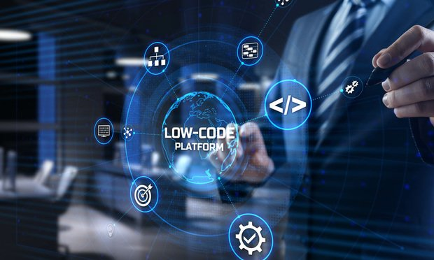 Low code is a visual approach to software development that allows teams to build applications 10 times cheaper and substantially faster; oftentimes without needing the help of software development teams. Low-code platforms enable users to drag and drop existing elements and features together to build applications and websites without writing code. (Credit: Murrstock/Adobe Stock)