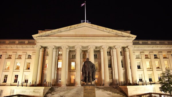 Treasury building in Washington.