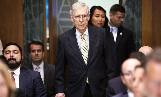 Senate Majority Leader Mitch McConnell, R-Ky. (Photo: Diego M. Radzinschi/ALM)