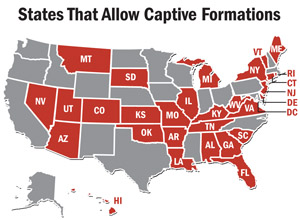 States Allowing Captive Formations