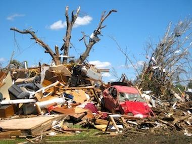 An April tornado that struck Tuscaloosa, Ala. (AP Photo/Robert Ray)