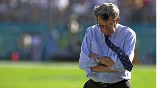 Penn State football coach Joe Paterno (AP File Photo)