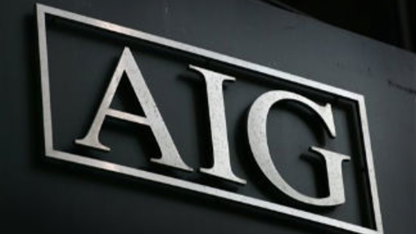 Sept. 17, 2008 file photo of the AIG logo shown in New York (AP Photo/Mark Lennihan, file)