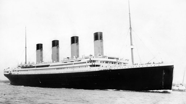 The Titanic departing Southampton