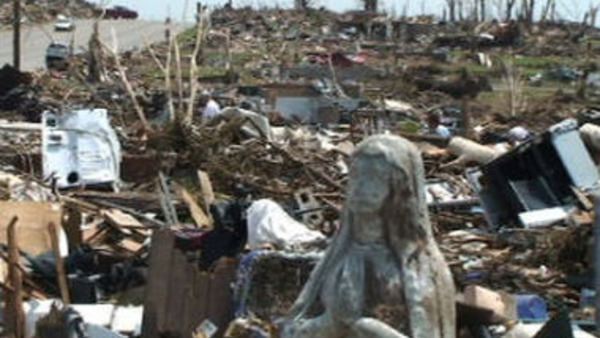 Devastation from the 2011 Joplin tornado.