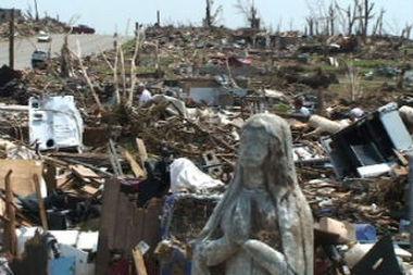 Devastation from the 2011 Joplin tornado.