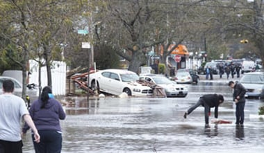Above is the scene on Father Capodanno Boulevard in Staten Island taken on Tuesday, Oct. 30. Photo by Mark Ruquet.