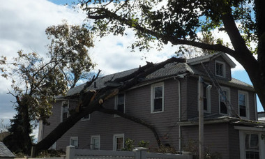 Damage to a home in Staten Island, N.Y. after Superstorm Sandy (Credit: Mark Ruquet, PC360)