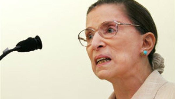U.S. Supreme Court Justice Ruth Bader Ginsburg. (AP Photo/Kristen Hines, Pool)