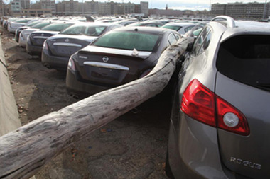 More than 230,000 insurance claims have been filed for vehicle damage incurred from Superstorm Sandy. Photo Credit: National Insurance Crime Bureau