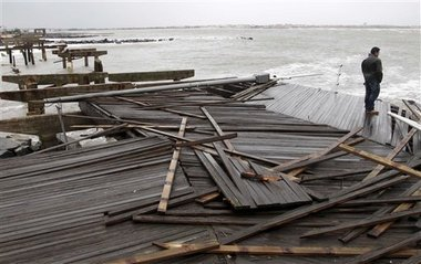 Damage in Atlantic City, N.J. after Superstorm Sandy (Credit: AP)
