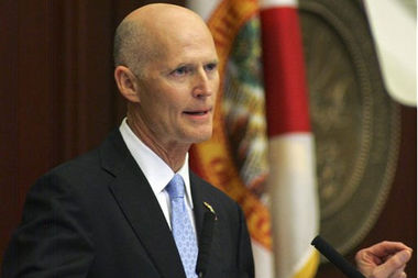 Gov. Rick Scott delivering his state-of-the-state address earlier this year (AP file photo)