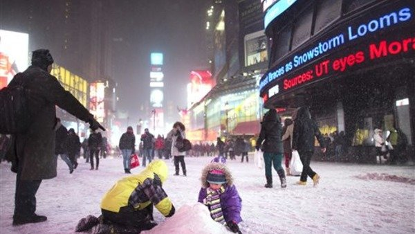 Times Square on Thurs., Jan. 2. (AP Photo)