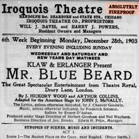 the iroquois theatre disaster Lessons learned from the 1903 iroquois disaster rebekah beach march 02, 2010 the iroquois theatre highly advertised as being absolutely fireproof, the iroquois theatre was as fireproof as the titanic was unsinkable.