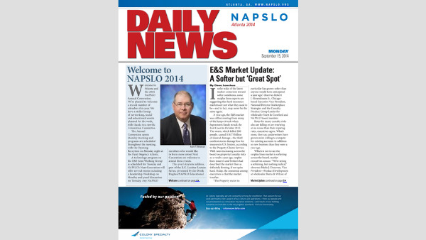 Pick up a Day One show daily at the 2014 NAPSLO Annual Convention, or check out the digital version below.