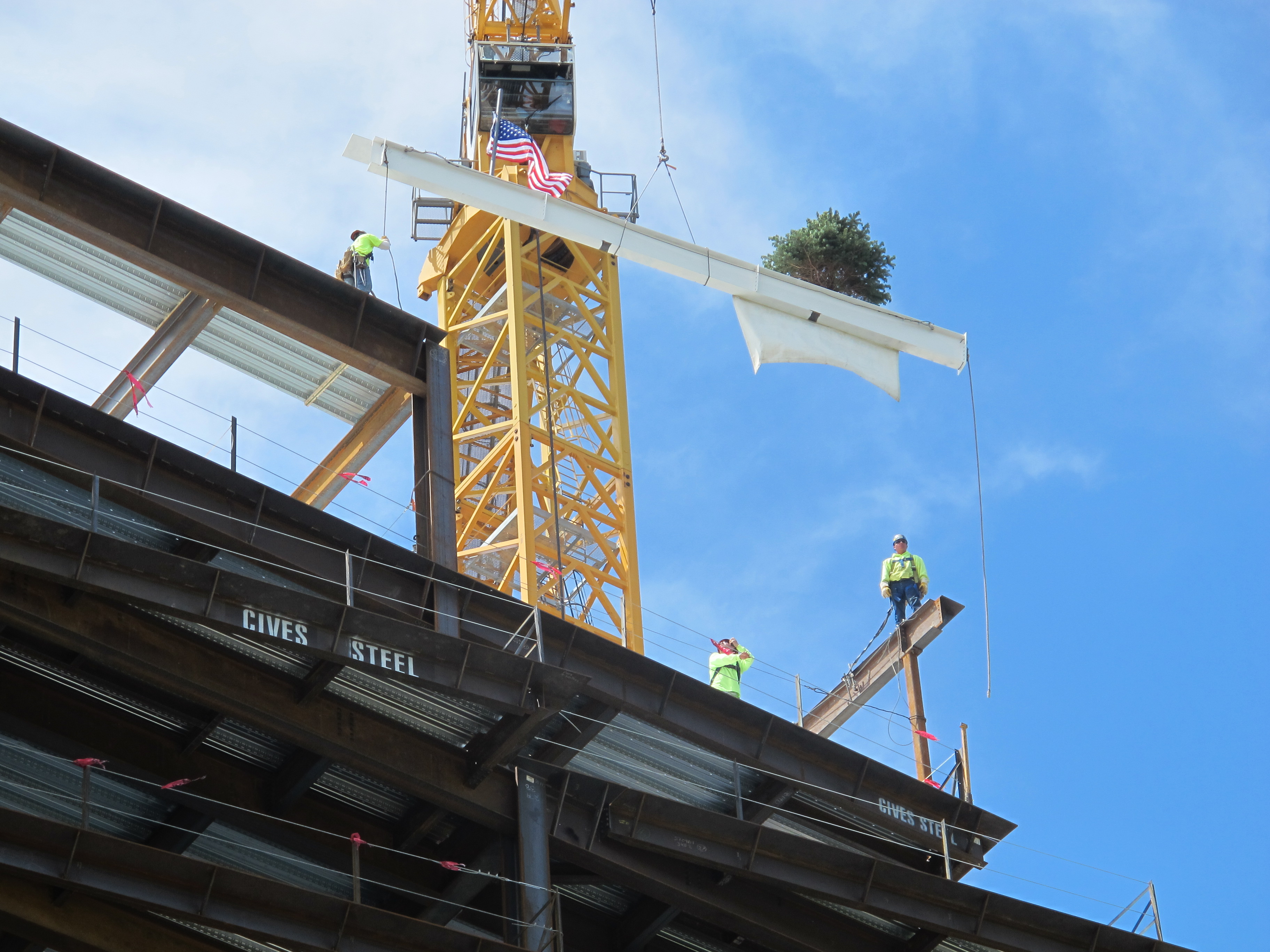 Ironworkers on beam photo Philadelphia