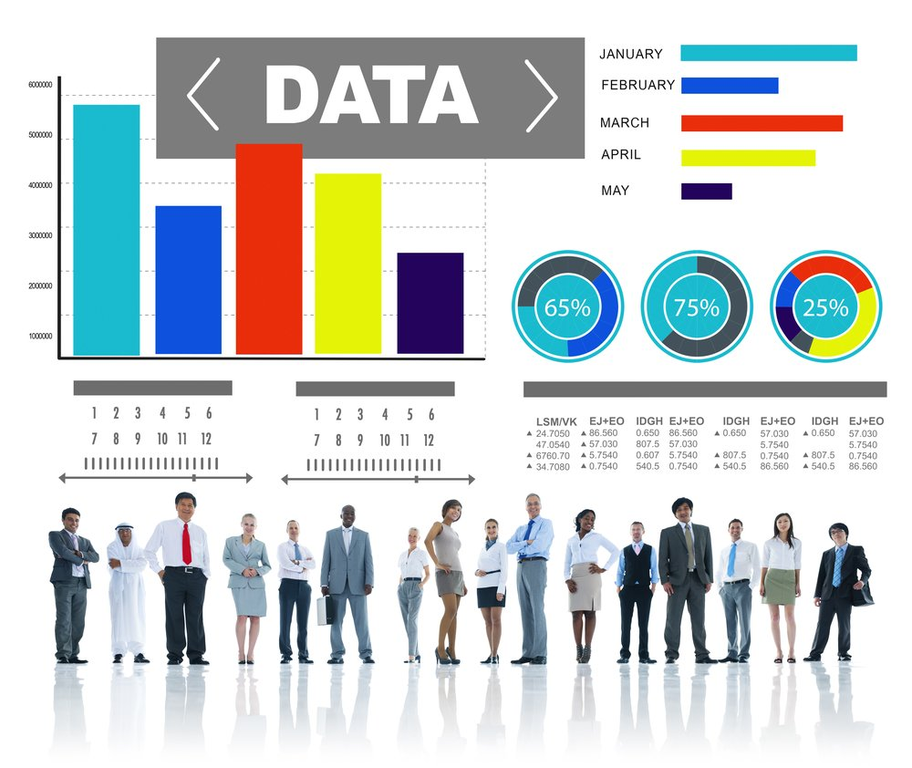 Big data chart with people