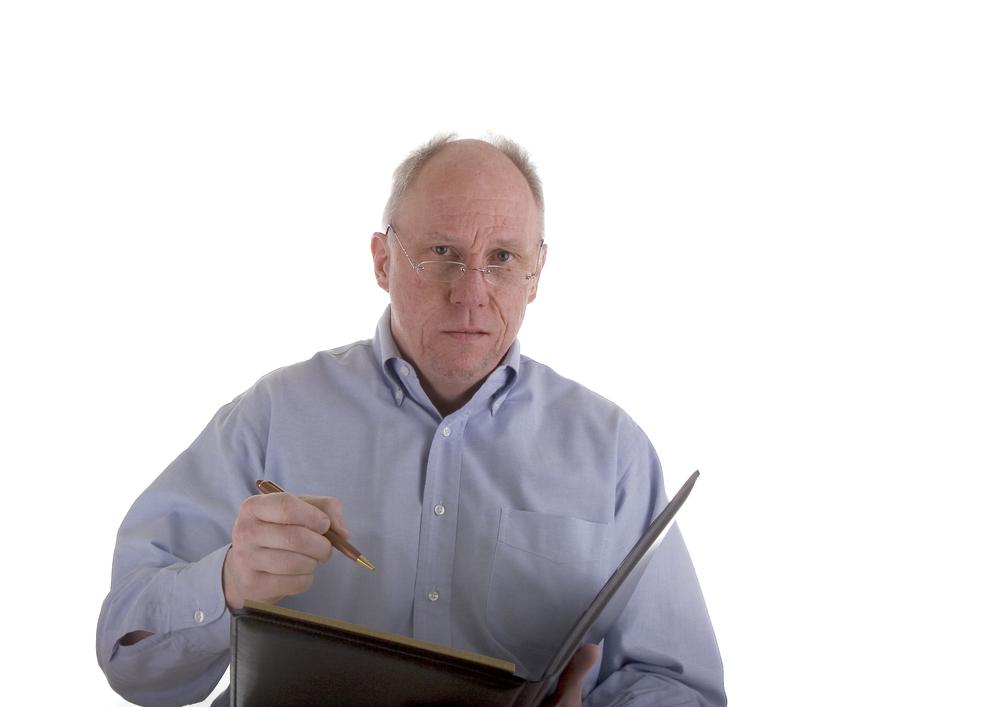 Older insurance adjuster