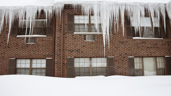 Severe winter leads to fears of roof collapse and frozen pipes