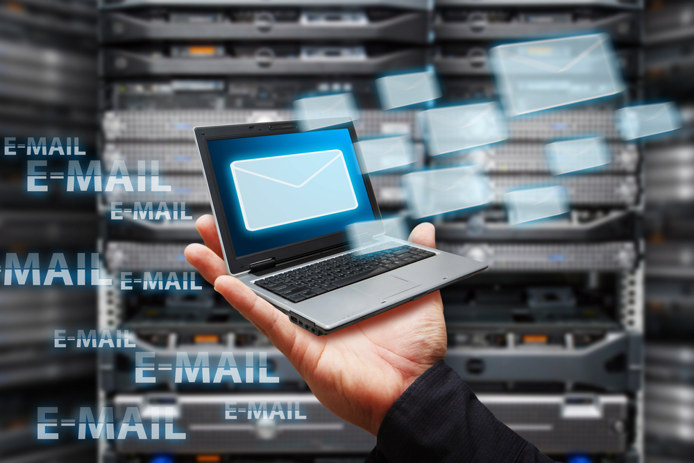 email delivery via laptop