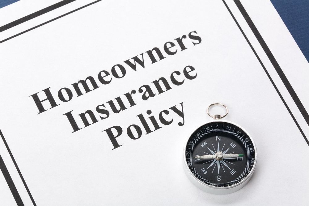 Homeowners insurance policy with compass