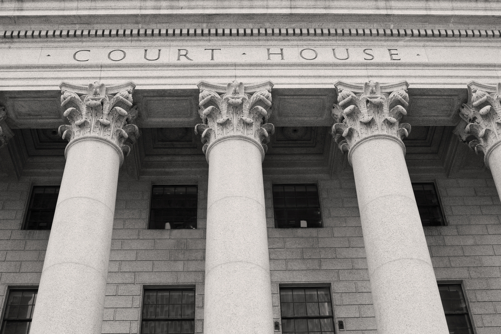Courthouse with columns