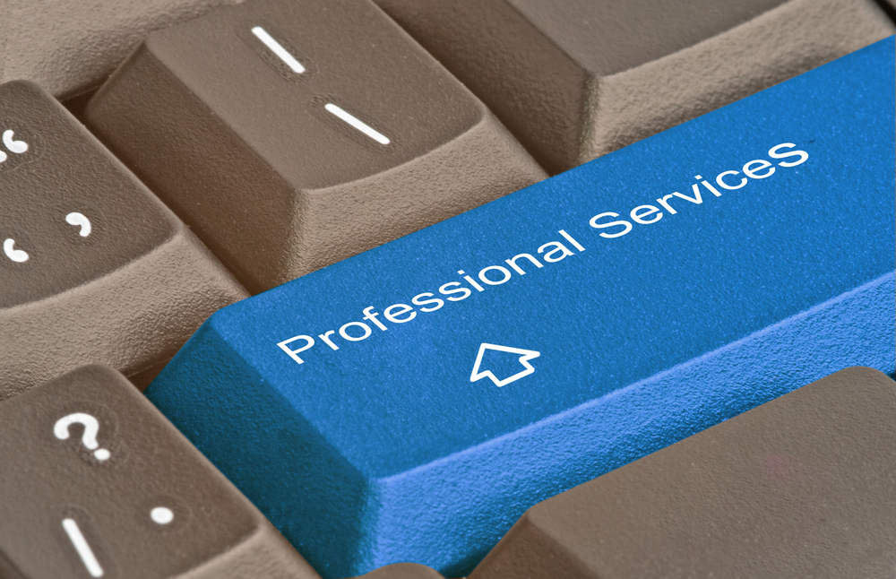 Computer keyboard with 'professional services' key