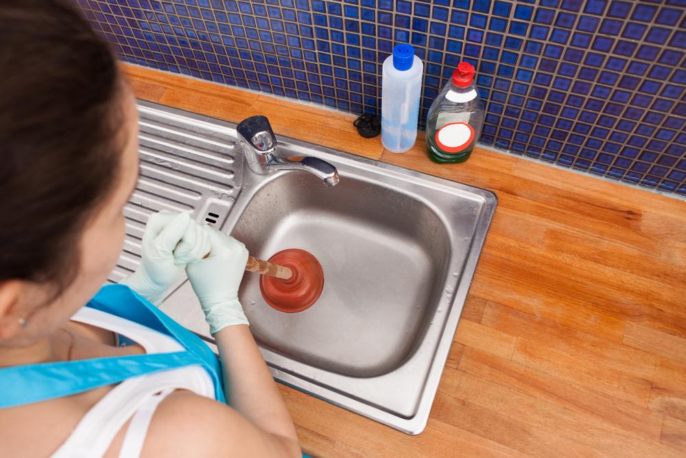Clogged sink