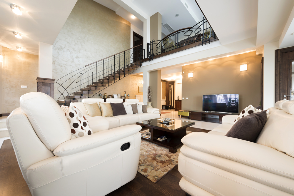 Interior of luxury apartment fully furnished