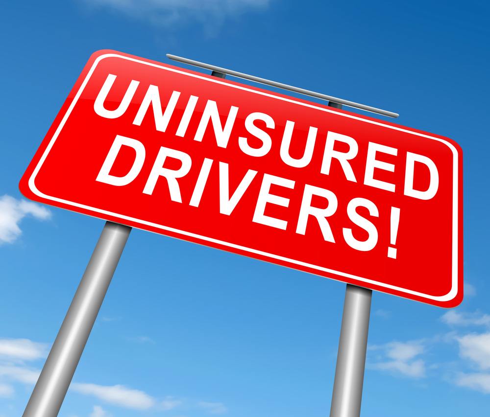 Uninsured Drivers road sign