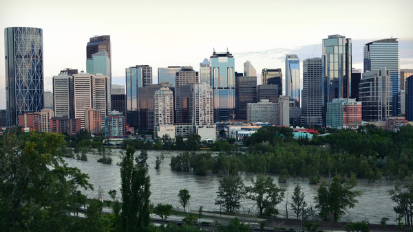 The 2013 floods in Calgary caused an estimated $1.7 billion in insured losses. (Photo: Shutterstock)