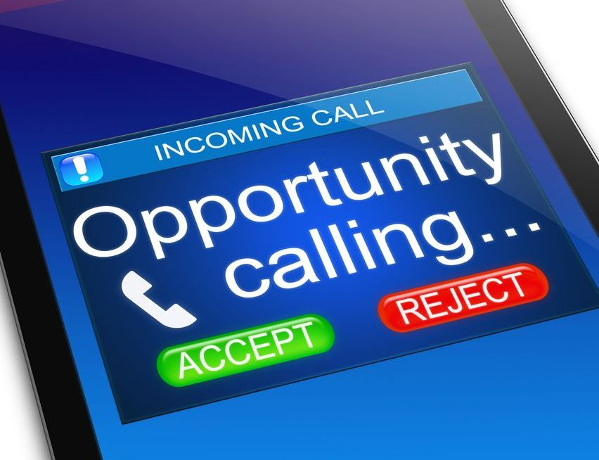 Opportunity calling on a cell phone