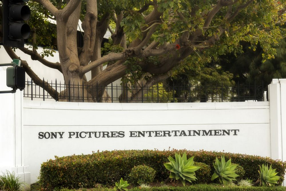 The Culver City street sign for Sony Pictures Entertainment