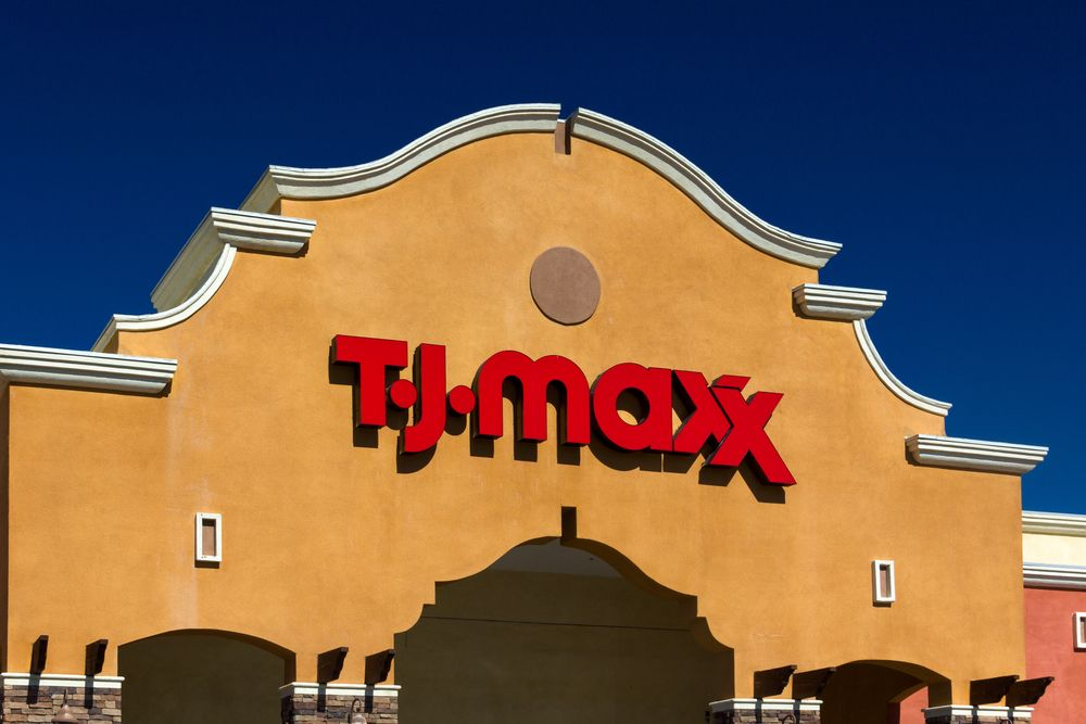 TJ Maxx store sign in Santa Clarita, Calif.