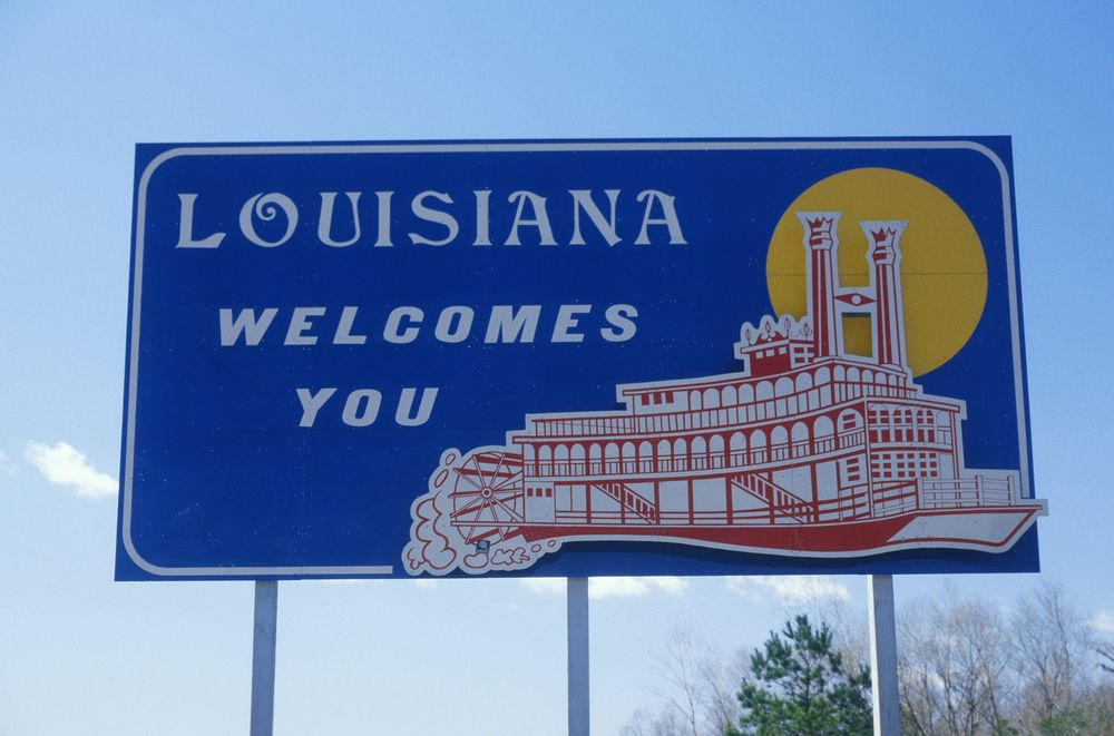 Louisiana welcome sign