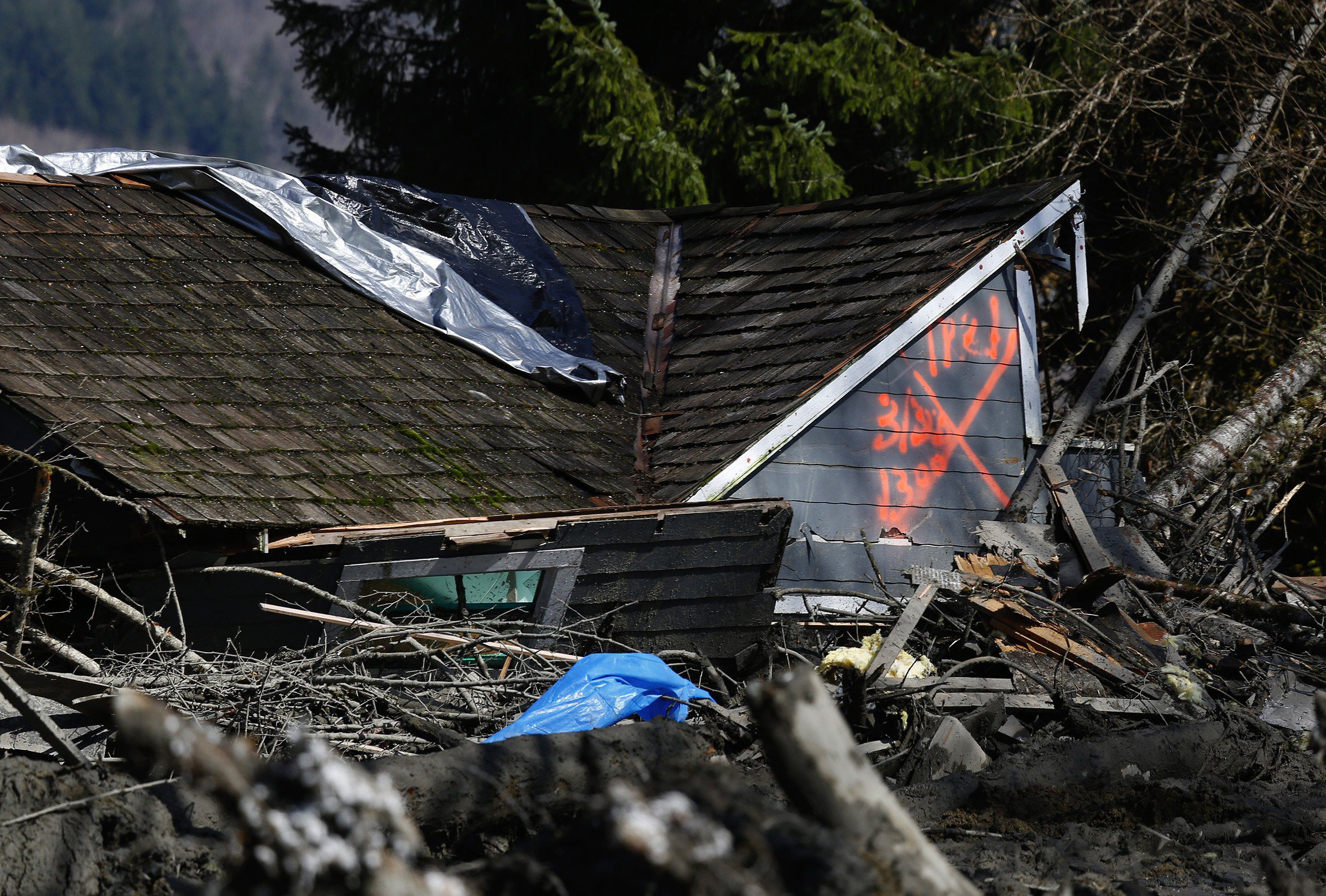 House destroyed during Oso landslide